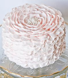 #Pink Ruffle Cake. www.facebook.com/pages/Sweet-Escape-Cakes-of-Kentucky/158607317551335