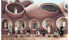 Le défilé Dior Croisière 2016 au Palais Bulles de Pierre Cardin