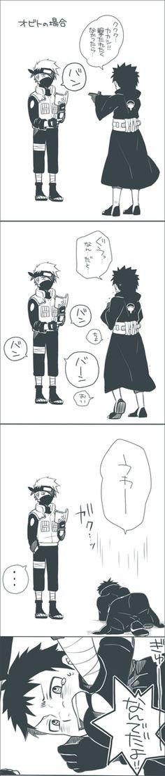 A little bit harsh, ne? XD #Kakashi #Obito