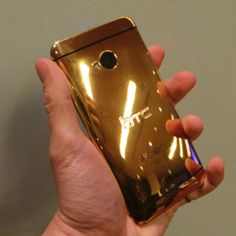Apple makes a golden phone, HTC makes one made of GOLD #nice