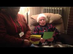 Marjorie reading Valentine's Comforting Cards