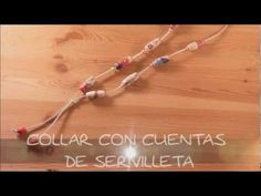 sandylandya@outlook.es  Collar de cuentas decoupage con servilletas