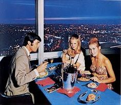 Eating atop the GPO Tower in the 1970s - a real treat - don't understand why they have never re-opened the restaurant - a revolving dinner - what more could you want!!
