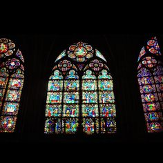 Stained Glass in Notre Dame  #paris #architecture #art #stainedglasses #notredame #cathedral - @mertkeskin- #webstagram