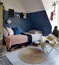 Kinderkamer - blauw (meisje) Kids Room Design, Baby Room Decor, Kid Spaces, New Room, Girls Bedroom, Toddler Bed, Interior Design, Beautiful Pictures, Chill Room