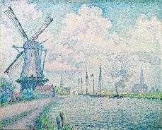 """Canal of Overschie"" Paul Signac"