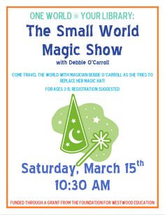 Magic at the Westwood Public Library.....