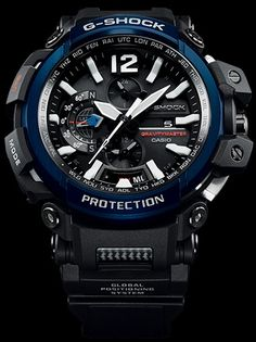 Designed with pilots and travelers in mind, the latest G-Shock Gravitymaster in the Master of G line is the most full-featured G-Shock watch to date. Rugged Watches, G Shock Watches Mens, Best Watches For Men, Casio G Shock, Sport Watches, Men's Watches, Trendy Watches, Casual Watches, Triple G