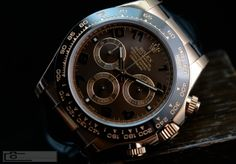 """SWISS CHOCOLATE""- ROLEX 18K ROSEGOLD CERAMIC DAYTONA CHOCOLATE DIAL"