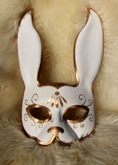 Leather Splicer inspired Rabbit Mask  Utopian by BeZiArtfulDesigns, $175.00