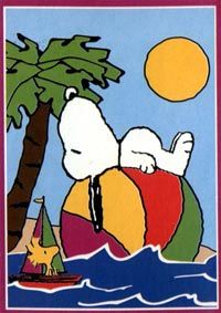 Snoopy Floating on a Beachball in the Ocean With Woodstock Nearby in a Tiny Sailboat Peanuts Cartoon, Peanuts Snoopy, Happy Summer, Summer Fun, Snoopy Und Woodstock, Charles Shultz, Hawaian Party, Snoopy Images, Snoopy Quotes