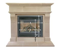 Measuring for your new fireplace surround is actually quite easy. The three basic variables we need are the width (A) and height (B) of your opening and how high the bottom of your opening is off of your floor (C). These variables are represented on the ...
