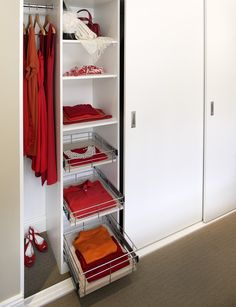 TANSEL BEDROOM/WARDROBE STORAGE: Individual Pull Out Wire Baskets