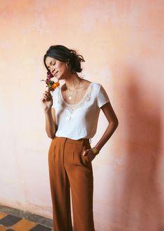 Sézane - Loly t-shirt and dress pants