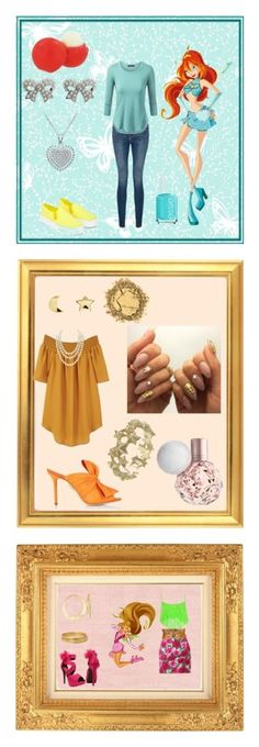 """""""Winx Club"""" by nozomi-tojo ❤ liked on Polyvore featuring York Wallcoverings, Frame, Our Family, M&Co, Essie, Eos, Erica Weiner, MANGO, Chanel and Zoe & Morgan"""