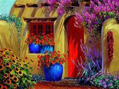 colorida casa de adobe