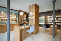 Opticians Store Design | Retail Design | Shop Design | Thomas Opticien Optical shop in Paris by Pisi Design Studio
