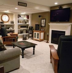 Awesome basement idea for entertaining or relaxing.