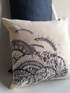 "Doodle print Pillow Covers - Home Decor - Decorative Pillow Covers - Couch Pillows - Throw Pillows - Bespoke - 14"" x 14"" on Etsy, £35.00"