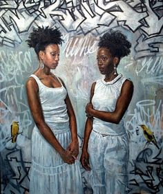 """A painting by Tim Okamura, which is part of his solo painting exhibition ""Bronx • Brooklyn • Queens""."