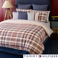 Austin's comforter set he wants for his dorm room - Tommy Hilfiger Vintage 3-piece Comforter Set and Euro Sham Separates