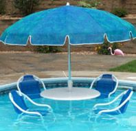 In the water patio furniture set...perfect for my next home with a pool...which will be NEVER!