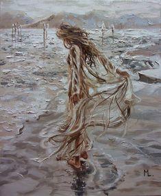 Monika Luniak - Paintings for Sale Modern Oil Painting, Oil Painting On Canvas, Painting & Drawing, Paintings For Sale, Original Paintings, Sky Sea, Deviant Art, Painting Techniques, Art Oil