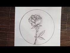 Cute Flower Drawing, Rose Drawing Simple, Easy Rose, Simple Rose, Easy Drawings, Pencil Drawings, Rose Step By Step, Circle Art, Art Tutorials