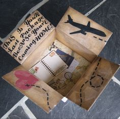 such a cute box for a care package! Missionary Care Packages, Deployment Care Packages, Missionary Gifts, Cute Gifts, Diy Gifts, Missionary Girlfriend, Army Girlfriend, Pocket Letter, Military Deployment