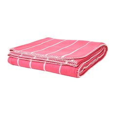IKEA - SOMMAR 2015, Bedspread/blanket, pink, , Fleece is a soft, easy-care material that you can machine wash.</t><t>Can be used as a bedspread for a single size bed or as a blanket for a larger bed.