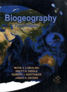 Book by Professor Mark V. Lomolino (professor at SUNY, College of Environmental Science and Forestry) and others.  http://www.esf.edu/faculty/lomolino/ Biogeography, Fourth Edition: Mark V. Lomolino, Brett R. Riddle, Robert J. Whittaker, James H. Brown.