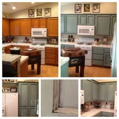 my before and after pictures of my kitchen cabinet make over  annie sloan chalk paint in duck egg with graphite wax  refinished kitchen cabinet project using chalk paint   decorative      rh   pinterest co uk