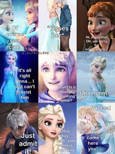 Frozen~ Anna , Elsa and Jack. I can't take this anymore! Too much cuteness!!! I want a Jelsa movie!!