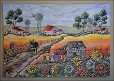 Flowers in Namakwaland   - Janet's Art  janet1bester@gmail.com Illustration Art, Illustrations, Flower Art, Art Drawings, Flowers, Painting, Art Floral, Painting Art, Illustration