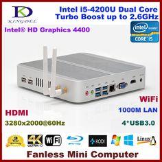 2015 New Intel i5-4200U Dual Core CPU Mini Desktop Computer, Thin Client, 2GB RAM+320GB HDD, 3280*2000, WiFi, HDMI, Fanless