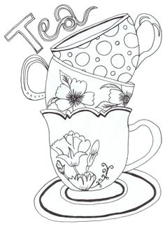 Teapot Print - Coloring Pages for Kids and for Adults