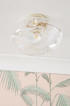 McKenzie Iridescent Flush Mount by Anthropologie in Assorted, Lighting Low Ceiling Bedroom, Bathroom Ceiling Light, Bedroom Lighting, Low Ceiling Lighting, Modern Ceiling, Flush Ceiling Lights Uk, Electrical Outlets, Butterfly Pendant, Globe Pendant