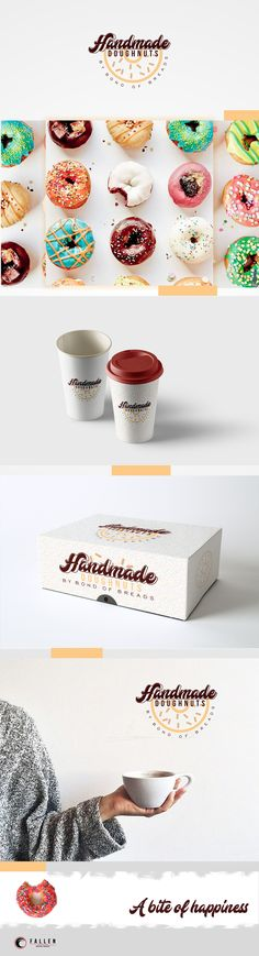 Hand Made Doughnuts by BOB is a Doughnut store in New Zealand that is Own by a Filipino Bakery owner. Brand Identity, Bob, Behance, Place Card Holders, Hands, Gallery, Tableware, Check, Projects