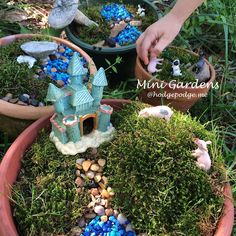 Mini Gardens with book themes and more - fun to make with a few supplies!