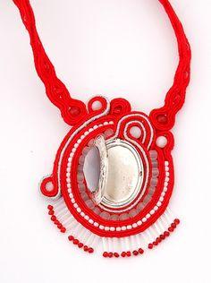 naszyjnik wisior sutasz soutache pendant necklace 21b