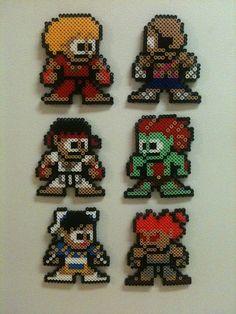 Street Fighter Magnets perler beads by kiimberrr