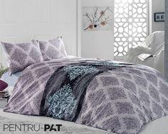 Set cuvertura pat pentru doua persoane Anatolia blue & grey Blue Grey, Comforters, Blanket, Furniture, Home Decor, Creature Comforts, Quilts, Decoration Home, Room Decor