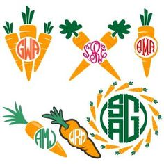 Carrot Easter Round Circle Monogram Cuttable Design Cut File. Vector, Clipart, Digital Scrapbooking Download, Available in JPEG, PDF, EPS, DXF and SVG. Works with Cricut, Design Space, Sure Cuts A Lot, Make the Cut!, Inkscape, CorelDraw, Adobe Illustrator, Silhouette Cameo, Brother ScanNCut and other compatible software.