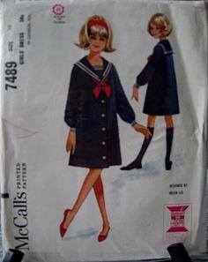 1960's sailor dress, designed by Helen Lee