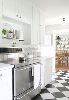 Vivacious Modern White Kitchen With Chalkboard Details   DigsDigs