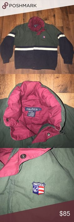 Vintage Small Nautica Puffer Down Jacket Green Excellent condition Nautica Jackets & Coats Puffers