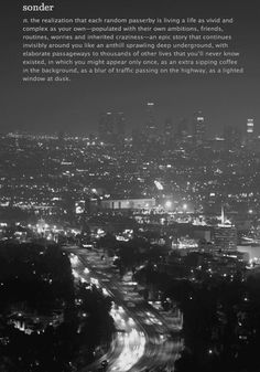 Sonder. The Dictionary of Obscure Sorrows