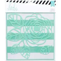 American Crafts - Heidi Swapp - Stencils 6x6 2 Pack Flower