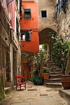 Italy, Vernazza Cinque Terre , province of La Spezia , Liguria region, Italy