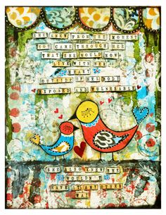 Motherhood Fine Art Print of Mixed Media by chloeandsofiasmom, $18.00  I like the background with a different verse for Christmas gift next year